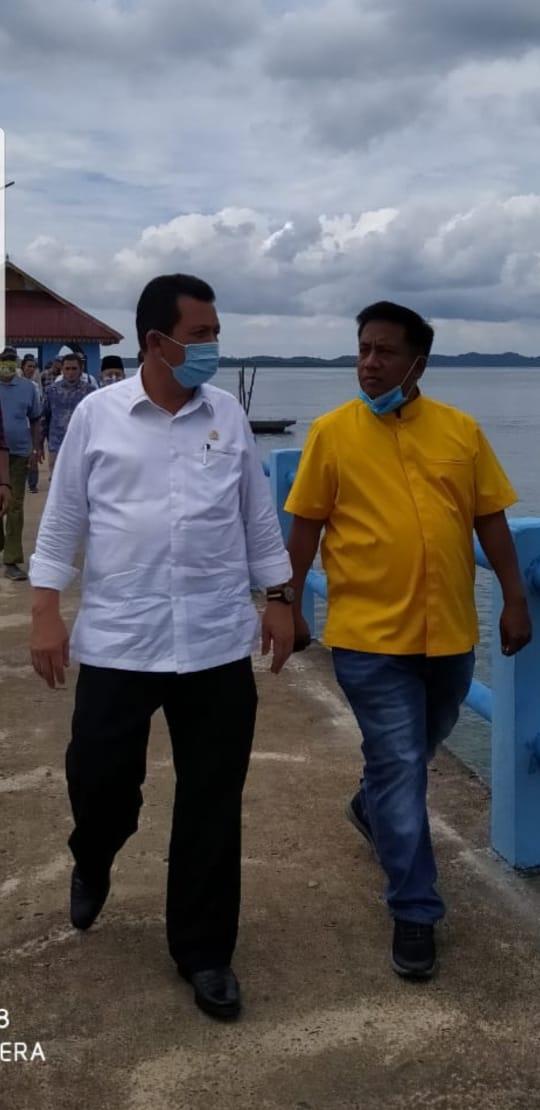 Anggota DPR RI daerah pemilihan (dapil) Kepri Ansar Ahmad menggelar reses di Desa Tajur Biru, Kecamatan Temiang Pesisir, Kabupaten Lingga, Kamis (6/8/2020).